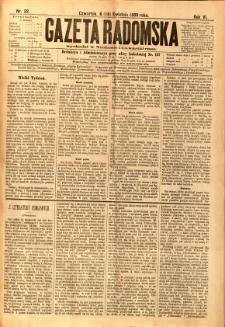 Gazeta Radomska, 1889, R. 6, nr 32