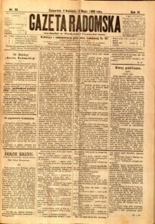 Gazeta Radomska, 1889, R. 6, nr 36
