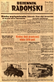 Dziennik Radomski, 1940, R. 1, nr 6