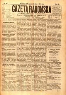 Gazeta Radomska, 1889, R. 6, nr 39