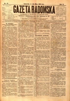 Gazeta Radomska, 1889, R. 6, nr 42