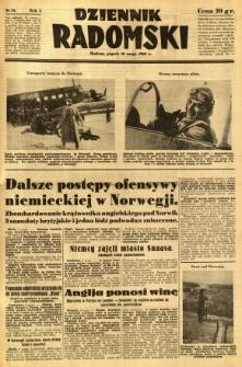Dziennik Radomski, 1940, R. 1, nr 58