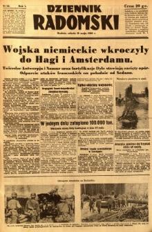 Dziennik Radomski, 1940, R. 1, nr 65