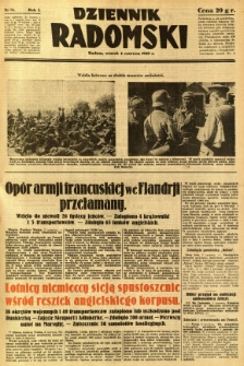 Dziennik Radomski, 1940, R. 1, nr 78