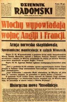 Dziennik Radomski, 1940, R. 1, nr 85