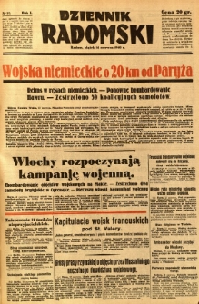 Dziennik Radomski, 1940, R. 1, nr 87