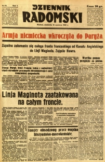 Dziennik Radomski, 1940, R. 1, nr 89