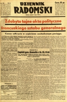 Dziennik Radomski, 1940, R. 1, nr 105
