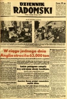 Dziennik Radomski, 1940, R. 1, nr 125
