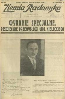 Ziemia Radomska, 1934, R. 7, nr specjalny A
