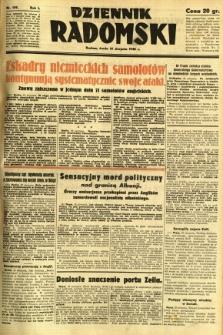 Dziennik Radomski, 1940, R. 1, nr 139