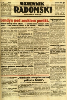 Dziennik Radomski, 1940, R. 1, nr 152