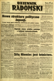 Dziennik Radomski, 1940, R. 1, nr 154