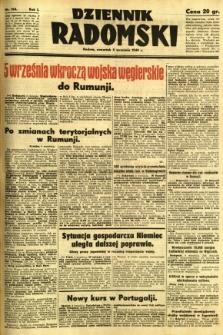 Dziennik Radomski, 1940, R. 1, nr 158