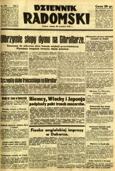 Dziennik Radomski, 1940, R. 1, nr 178