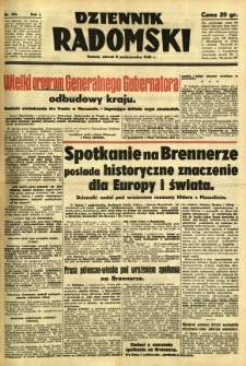 Dziennik Radomski, 1940, R. 1, nr 186