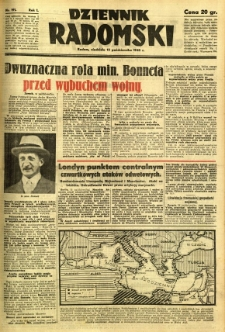 Dziennik Radomski, 1940, R. 1, nr 191