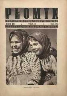 Płomyk : tygodnik dla dzieci i młodzieży, 1936, R. 20, T. 2, nr 25