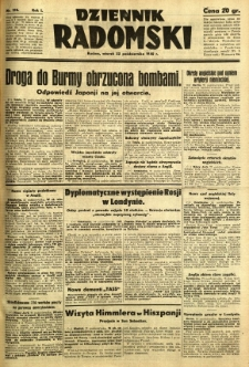 Dziennik Radomski, 1940, R. 1, nr 198
