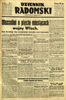Dziennik Radomski, 1940, R. 1, nr 222