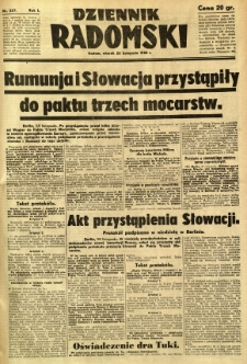 Dziennik Radomski, 1940, R. 1, nr 227
