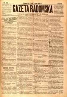 Gazeta Radomska, 1889, R. 6, nr 58