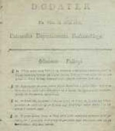 Dziennik Departamentowy Radomski, 1815, nr 36, dod.