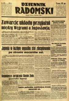 Dziennik Radomski, 1940, R. 1, nr 243