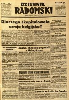 Dziennik Radomski, 1940, R. 1, nr 254