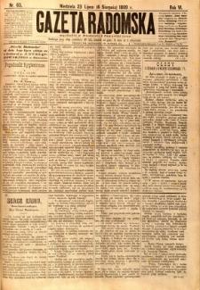 Gazeta Radomska, 1889, R. 6, nr 63