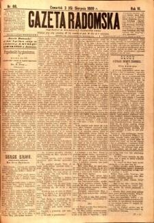 Gazeta Radomska, 1889, R. 6, nr 66