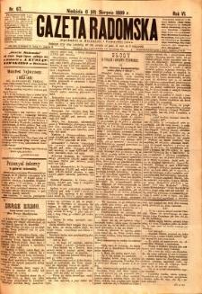Gazeta Radomska, 1889, R. 6, nr 67