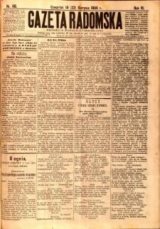 Gazeta Radomska, 1889, R. 6, nr 68