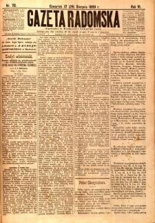 Gazeta Radomska, 1889, R. 6, nr 70