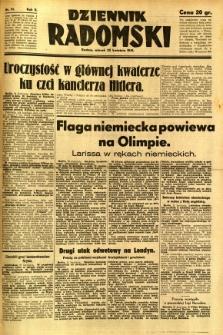 Dziennik Radomski, 1941, R. 2, nr 91