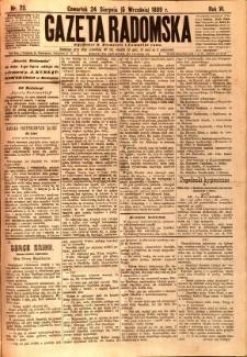 Gazeta Radomska, 1889, R. 6, nr 72