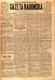 Gazeta Radomska, 1889, R. 6, nr 74