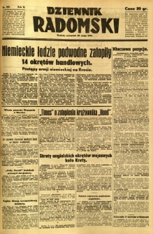 Dziennik Radomski, 1941, R. 2, nr 122