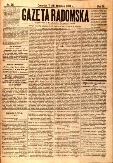 Gazeta Radomska, 1889, R. 6, nr 76