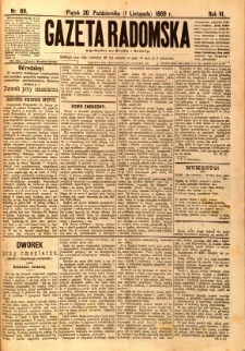 Gazeta Radomska, 1889, R. 6, nr 89