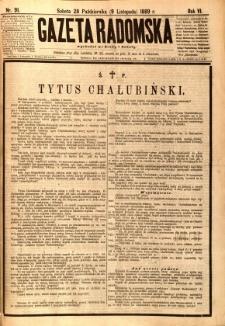 Gazeta Radomska, 1889, R. 6, nr 91