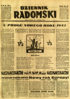Dziennik Radomski, 1941, R. 2, nr 303