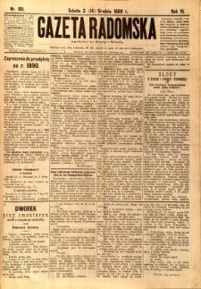 Gazeta Radomska, 1889, R. 6, nr 101