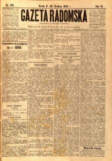Gazeta Radomska, 1889, R. 6, nr 102