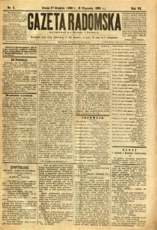Gazeta Radomska, 1890, R. 7, nr 3