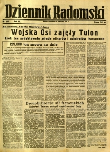 Dziennik Radomski, 1942, R. 3, nr 280