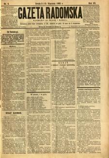 Gazeta Radomska, 1890, R. 7, nr 5