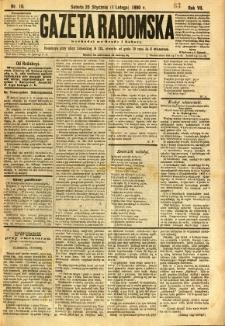 Gazeta Radomska, 1890, R. 7, nr 10