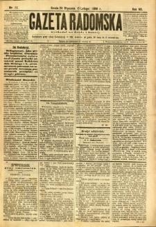 Gazeta Radomska, 1890, R. 7, nr 11
