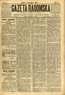 Gazeta Radomska, 1890, R. 7, nr 16
